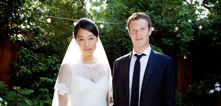 MarkZuckerberg and Priscilla Chan's                 Wedding Photo