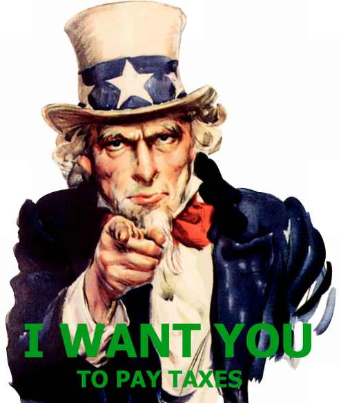 Uncle Sam says Pay Your Taxes