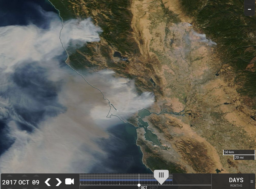 Napa Fires from Space