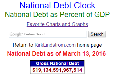 Total National Debt